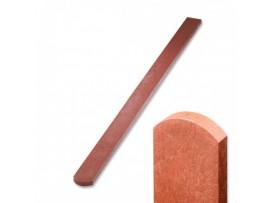 Plotovka 78 x 21 mm, 0,6 m, s půlkulatou hlavou, cihlová barva