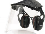 Chrániče sluchu se štítem z plexiskla