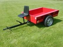 Vlečka, přívěsný brzdový vozík HV 500, AGZAT